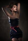 Elegant lady posing. In amazing dress Royalty Free Stock Photography