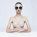 Elegant lady in sunglasses Royalty Free Stock Image