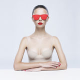 Elegant lady in sunglasses Royalty Free Stock Photo