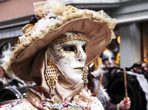 Elegant lady with Venetian mask Royalty Free Stock Photography