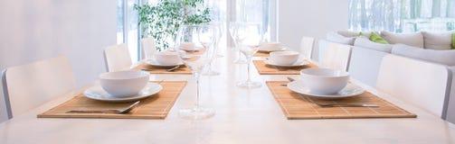 Elegant laid table Stock Photography