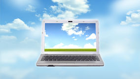 Laptop Template Royalty Free Stock Image