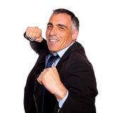 Elegant latin broker man boxing Royalty Free Stock Photos