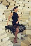 Elegant latin women dancer. Elegant latin woman dancer in shoes paradise Royalty Free Stock Photos