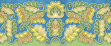 Elegant leaf pattern motif Royalty Free Stock Images