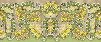 Elegant leaf pattern motif Stock Photo