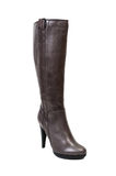 Elegant leather boot with high heel Royalty Free Stock Photography