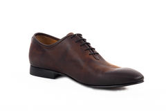 Elegant leather shoes isolated. Elegant brown leather shoes isolated Stock Photography