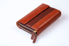 Elegant leather wallet Royalty Free Stock Photos