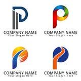 Elegant Letter P Concept Logo Stock Image