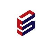 Elegant letter S 3d flat concept. Modern and elegant letter S 3d flat concept logo vector Stock Photos