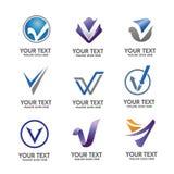 Elegant Letter V logo concept vector set