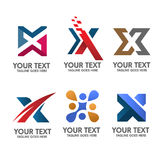 Elegant Letter X logo concept vector Royalty Free Stock Photography