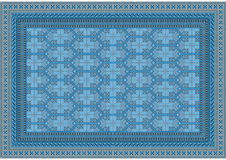 Elegant light blue with beige shade pattern for of the carpet Stock Image