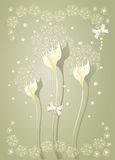 Elegant light scrapbooking  floral background Royalty Free Stock Images