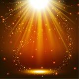 Elegant lights shining with flying sparks background. Vector illustration of Elegant lights shining with flying sparks background Stock Photography