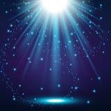 Elegant lights shining with flying sparks background. Vector illustration of Elegant lights shining with flying sparks background Stock Images