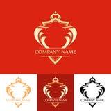Elegant Line Art Red Blazon Stock Images