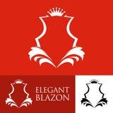 Elegant Line Art Red Blazon Royalty Free Stock Photos