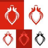 Vector Elegant Line Art Red Blazon Stock Photo