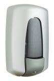 Elegant liquid soap dispenser made of matte gray plastic Royalty Free Stock Photos