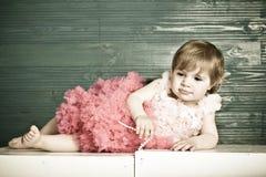 Elegant little girl Stock Images