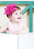 Elegant little girl Stock Photos