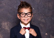 Elegant little man in suit. Royalty Free Stock Photography