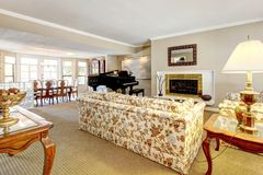 Elegant living room interior with piano Stock Images