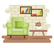 Elegant living room scene. Vector illustration design Royalty Free Stock Photos