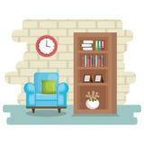 Elegant living room scene. Vector illustration design Royalty Free Stock Photography