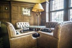 Elegant lobby i ett lyxigt hotell Arkivfoto