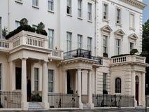 Elegant London townhouses Royalty Free Stock Photo