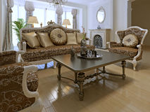 Elegant lounge room in private house Royalty Free Stock Image