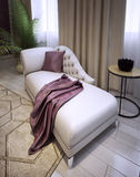 Elegant lounge sofa in a luxurious classic style. 3d visualization Royalty Free Stock Images