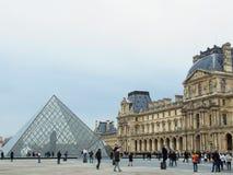 Elegant Louvremuseum, Parijs, Frankrijk, Europa, ingang, stock foto's
