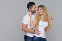 Elegant lovely couple Stock Photos