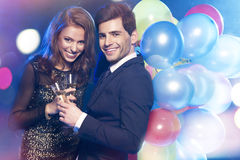 Elegant lovely couple Royalty Free Stock Image
