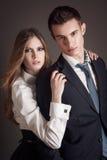Elegant lovely couple Royalty Free Stock Images