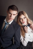 Elegant lovely couple Stock Images