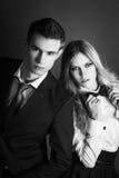 Elegant lovely couple Royalty Free Stock Photo