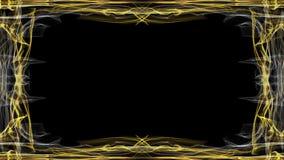 Elegant luxueus gouden kader op zwarte achtergrond Geanimeerd kader voor eigen krantekoppen en titels of ander bericht royalty-vrije illustratie