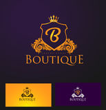 Elegant Luxury Badge Logo. Luxury Crown Logo Royalty Free Stock Images