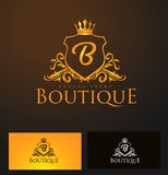 Elegant Luxury Badge Logo. Luxury Crown Logo Royalty Free Stock Photography