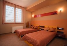 Elegant and luxury bedroom interior design.  Royalty Free Stock Image