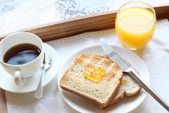 Elegant luxury breakfast Stock Images