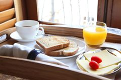 Elegant luxury breakfast Royalty Free Stock Images