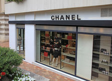 Elegant luxury Chanel store, Monte Carlo, Monaco. Royalty Free Stock Photo