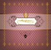 Elegant luxury invitation card in purple color Stock Images