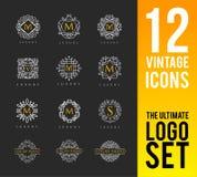 Elegant Luxury Logo stock illustration